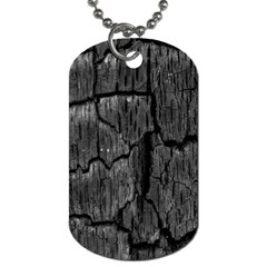 Coal Charred Tree Pore Black Dog Tag (two Sides)
