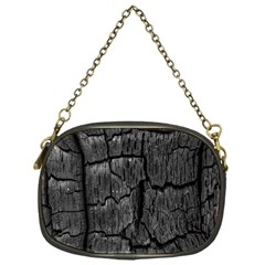 Coal Charred Tree Pore Black Chain Purses (one Side)