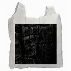 Coal Charred Tree Pore Black Recycle Bag (two Side)