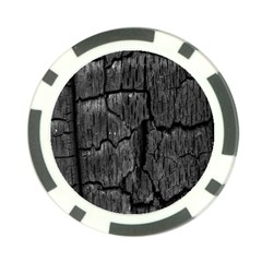 Coal Charred Tree Pore Black Poker Chip Card Guards (10 pack)