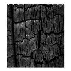 Coal Charred Tree Pore Black Shower Curtain 66  X 72  (large)