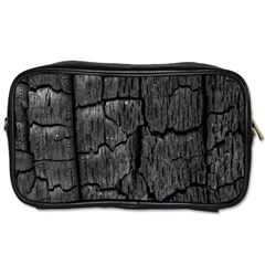 Coal Charred Tree Pore Black Toiletries Bags 2 Side
