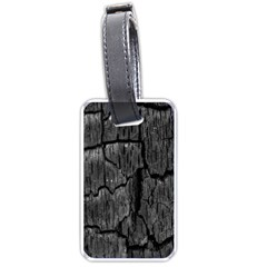 Coal Charred Tree Pore Black Luggage Tags (Two Sides)