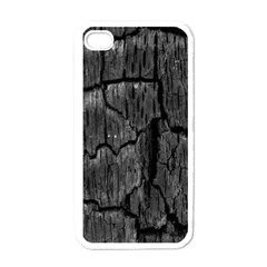 Coal Charred Tree Pore Black Apple Iphone 4 Case (white)