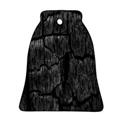 Coal Charred Tree Pore Black Ornament (bell)