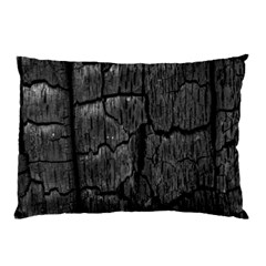 Coal Charred Tree Pore Black Pillow Case (two Sides)