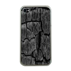 Coal Charred Tree Pore Black Apple Iphone 4 Case (clear)