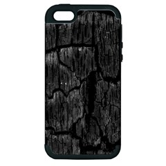 Coal Charred Tree Pore Black Apple Iphone 5 Hardshell Case (pc+silicone)