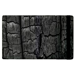 Coal Charred Tree Pore Black Apple Ipad 3/4 Flip Case
