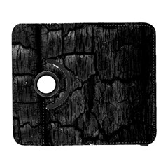 Coal Charred Tree Pore Black Galaxy S3 (flip/folio)