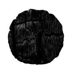 Coal Charred Tree Pore Black Standard 15  Premium Round Cushions