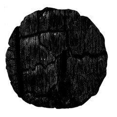 Coal Charred Tree Pore Black Large 18  Premium Round Cushions