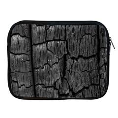 Coal Charred Tree Pore Black Apple Ipad 2/3/4 Zipper Cases