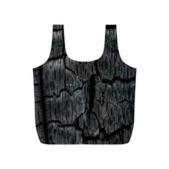 Coal Charred Tree Pore Black Full Print Recycle Bags (s)