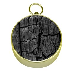 Coal Charred Tree Pore Black Gold Compasses