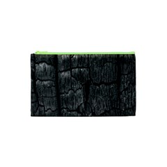 Coal Charred Tree Pore Black Cosmetic Bag (XS)