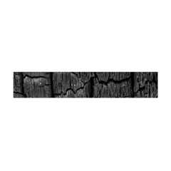 Coal Charred Tree Pore Black Flano Scarf (mini)