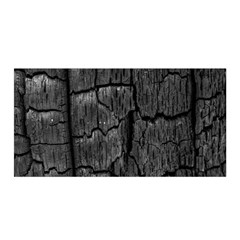 Coal Charred Tree Pore Black Satin Wrap