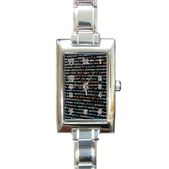Close Up Code Coding Computer Rectangle Italian Charm Watch
