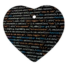 Close Up Code Coding Computer Ornament (Heart)