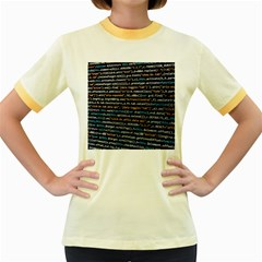 Close Up Code Coding Computer Women s Fitted Ringer T Shirts
