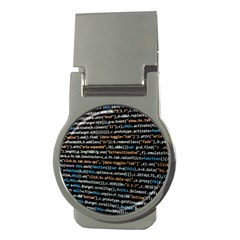 Close Up Code Coding Computer Money Clips (round)
