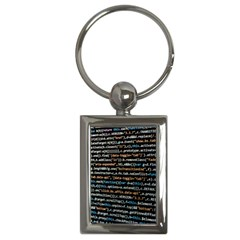 Close Up Code Coding Computer Key Chains (rectangle)