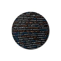 Close Up Code Coding Computer Rubber Round Coaster (4 pack)