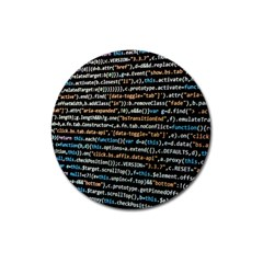Close Up Code Coding Computer Magnet 3  (round)