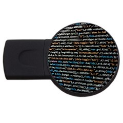 Close Up Code Coding Computer Usb Flash Drive Round (2 Gb)