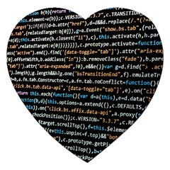 Close Up Code Coding Computer Jigsaw Puzzle (heart)
