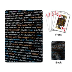 Close Up Code Coding Computer Playing Card