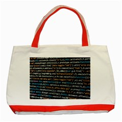 Close Up Code Coding Computer Classic Tote Bag (red)