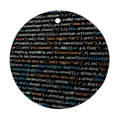 Close Up Code Coding Computer Round Ornament (two Sides)