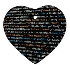 Close Up Code Coding Computer Heart Ornament (2 Sides)