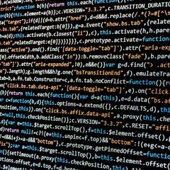 Close Up Code Coding Computer Canvas 20  X 20