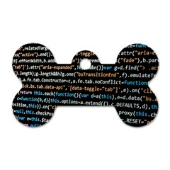 Close Up Code Coding Computer Dog Tag Bone (one Side)