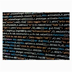 Close Up Code Coding Computer Large Glasses Cloth (2 Side)