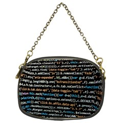 Close Up Code Coding Computer Chain Purses (one Side)