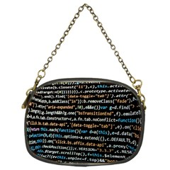 Close Up Code Coding Computer Chain Purses (two Sides)