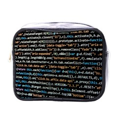 Close Up Code Coding Computer Mini Toiletries Bags
