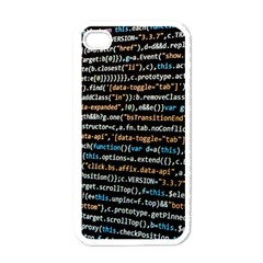 Close Up Code Coding Computer Apple Iphone 4 Case (white)