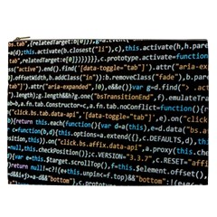 Close Up Code Coding Computer Cosmetic Bag (xxl)