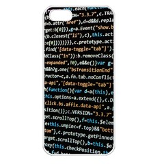 Close Up Code Coding Computer Apple Iphone 5 Seamless Case (white)