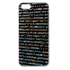 Close Up Code Coding Computer Apple Seamless Iphone 5 Case (clear)