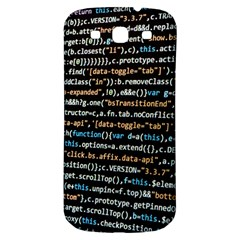 Close Up Code Coding Computer Samsung Galaxy S3 S Iii Classic Hardshell Back Case