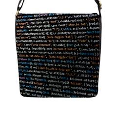 Close Up Code Coding Computer Flap Messenger Bag (l)