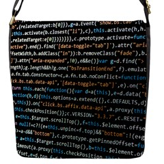 Close Up Code Coding Computer Flap Messenger Bag (s)