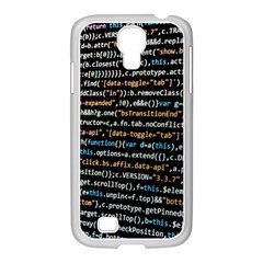 Close Up Code Coding Computer Samsung Galaxy S4 I9500/ I9505 Case (white)