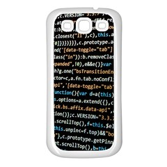 Close Up Code Coding Computer Samsung Galaxy S3 Back Case (white)